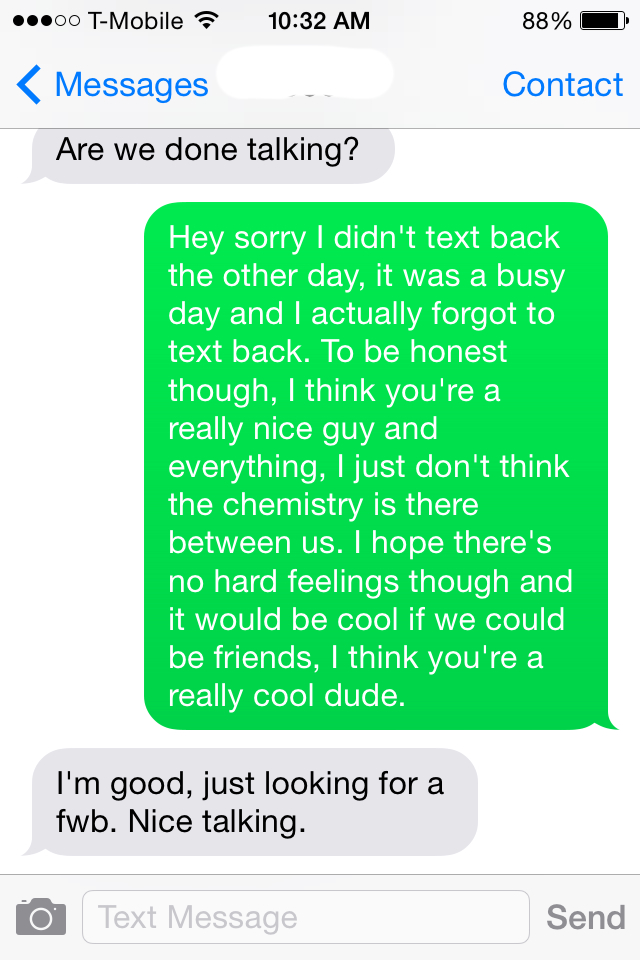 Days t when text guy a doesn back for What it